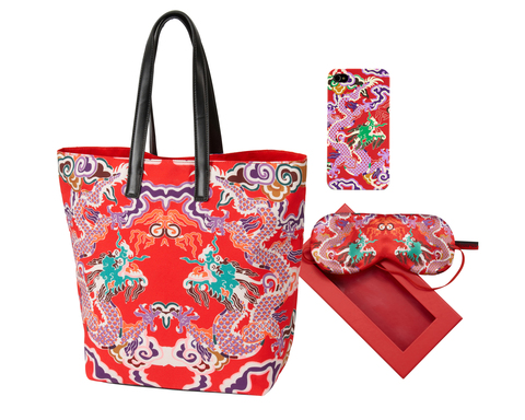 Double Happiness Vivienne Tam is available exclusively at jcpenney this holiday season. This vividly colorful collection includes tote bags, iPhone cases and sleep masks ranging in price from $12 to $32.