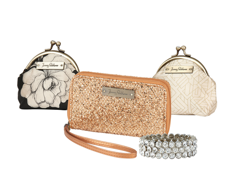 Jenny Packham Boudoir is available exclusively at jcpenney this holiday season. The collection features elegant pieces including bracelets, cosmetic bags and coin purses ranging in price from $8 to $28.