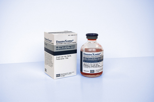 DaunoXome® (daunorubicin citrate liposome injection) vial and carton