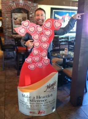 Mimi's Cafe proudly supports the American Heart Association's Go Red For Women movement.
