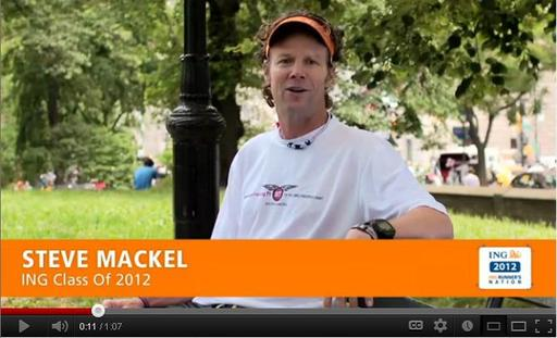 ING Runner's Nation, an online community for runners, features videos offering quick tips and facts aimed at informing and inspiring marathoner runners.  Running coach Steve Mackel serves as a host for the program.