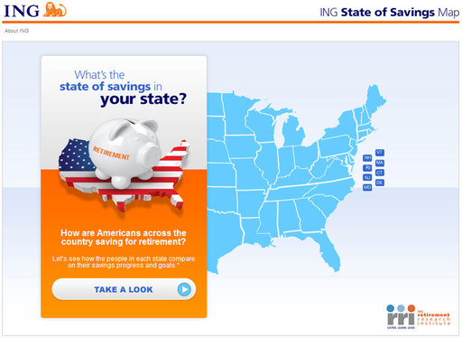 New interactive map provides a state-by-state scan and ranking of how Americans say they are saving across the country.