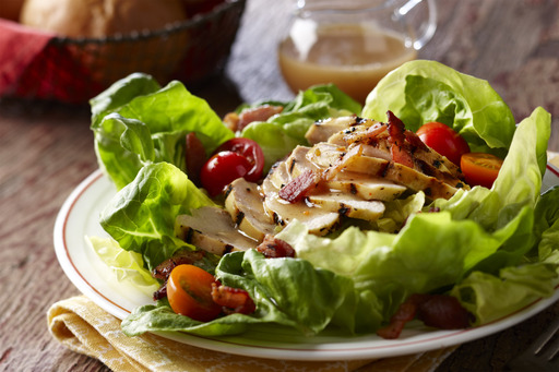 BLT Salad with Lemon Pepper Chicken