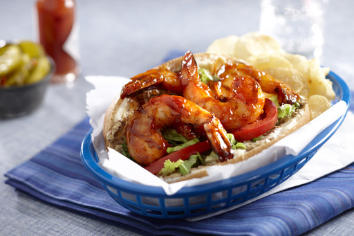 Barbecued Shrimp Po' Boy