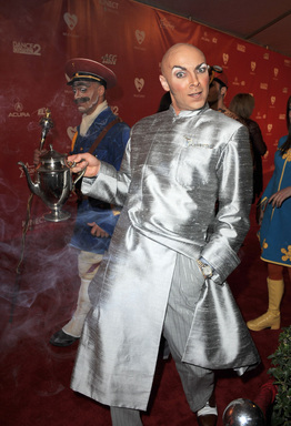 Castmember from the Beatles ''LOVE'' by Cirque du Soleil arrives at The 2012 MusiCares Person of The Year Gala Honoring Paul McCartney at Los Angeles Convention Center on February 10, 2012 in Los Angeles, California.  (Photo by Steve Granitz/WireImage)