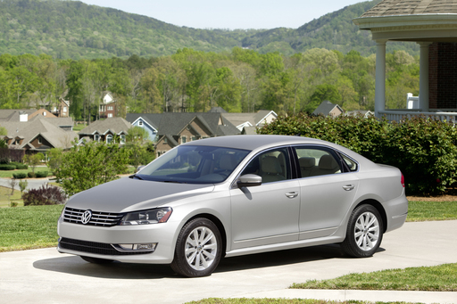 The 2012 Volkswagen Passat was named one of the 10 Best Family Cars of 2012 by Kelley Blue Book's kbb.com.