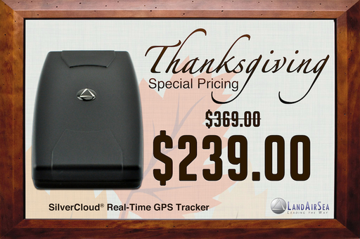 Special Thanksgiving Pricing on SilverCloud Real-Time GPS Tracker
