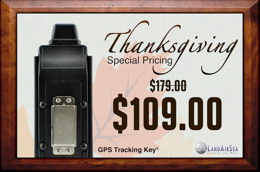 Special Thanksgiving Pricing on GPS Tracking Key