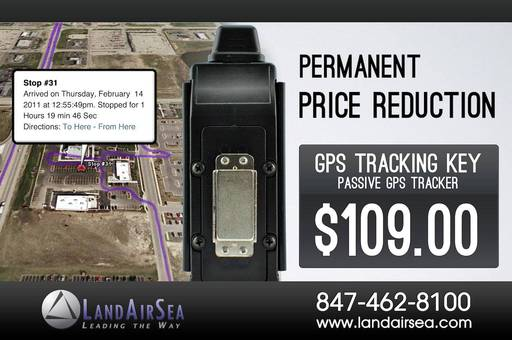 Permanent Price Cut on GPS Tracking Key Now Only $109!