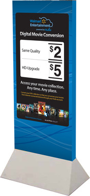 In partnership with top Hollywood studios, Walmart Entertainment's in-store exclusive disc-to-digital service powered by VUDU will be available at more than 3,500 stores starting April 16, 2012