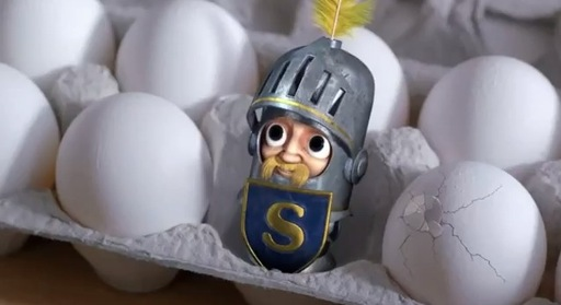 "SIR CAN-A-LOT™ HIDES IN EGG CARTON TO ""BREAK THE MONOTONY®"" OF MEALS"