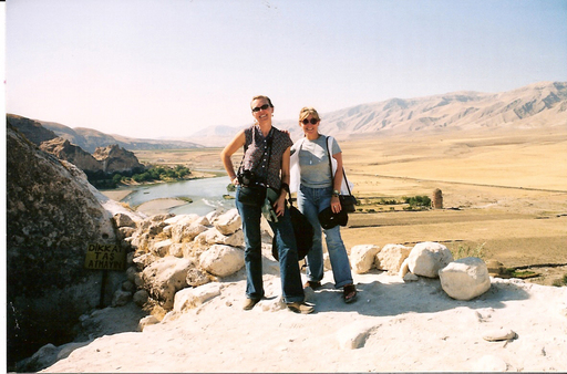 Stocke (left) and Brenner at Hasankeyf, above the Tigris River. The authors are returning to Turkey to lead a Book Launch Tour May 19 through 29, 2012