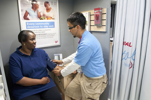 Blood pressure is one of the ten health indicators assessed for free on the Walgreens Way to Well Health Tour with NUL.