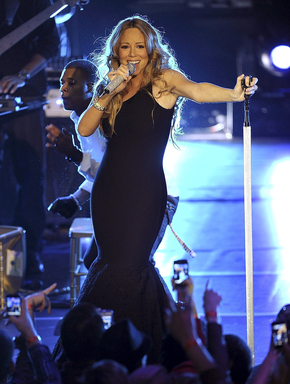 Mariah Carey performs during Escape To Total Rewards at Gotham Hall on March 1, 2012 in New York City. (Photo by Larry Busacca/Getty Images for Caesars Entertainment)