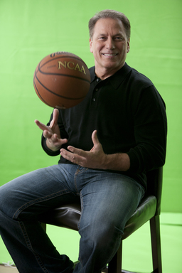 "Tom Izzo shares stories about his personal ""Journey to Comfort,"" from coaching his first game at MSU to winning a national championship, during the Dove Men+Care commercial shoot."