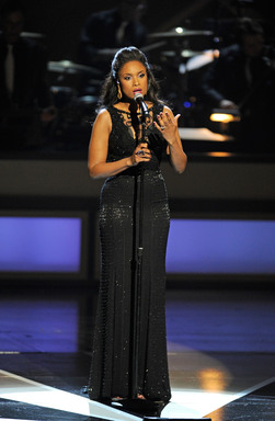 Diva Jennifer Hudson performs finale ''Take Care of This House'' at the opening of The Smith Center in Las Vegas  (Getty Images)