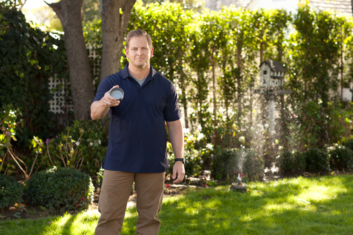 Jason Cameron, licensed contractor and TV host, demonstrates proper watering techniques in TruGreen's new ''Grow Curb Appeal'' spring webisode.