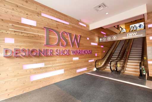 The new DSW location in Manhattan features 3 floors of shoe shopping for women & men.