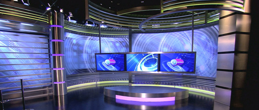 Set of SOI TV´s groundbreaking newscast, Opiniario