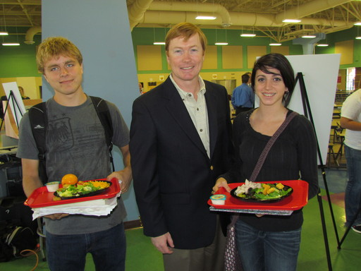 Florida Agriculture Commissioner Adam Putnam visits Oviedo High School to mark the donation of eight salad bars to Seminole County Public Schools by Duda Farm Fresh Foods