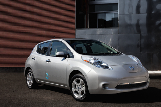 The Nissan Leaf is one of Kelley Blue Book's kbb.com 10 Best Green Cars of 2012.