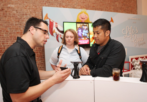 "LG Viper 4G LTE launch event attendees get a first look at how technology can be used to bring families together with the tools like the ""Life's Good Fairytales"" app"