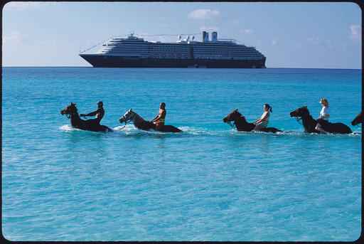 The Horseback Riding by Land and Sea excursion provides guests with a fun activity to being on the beach at Holland America Line's award winning Half Moon Cay.