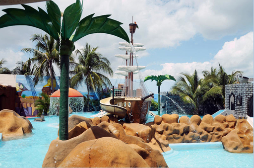 The waterpark at Crown Paradise Club Cancun is a hit with kids of all ages.