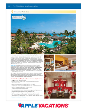Now there's even more information packed in Apple Vacations annual winter sun catalogs. Use the Apple Vacations Interactive app to scan this page and learn more about the resort.