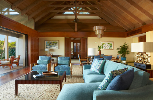 Relax on Hawaii's Big Island with a bungalow at the luxurious Mauna Lani Bay Hotel & Bungalows, featuring an expansive living area, two spacious bedrooms, wet bar and a private kitchen.
