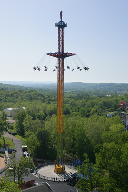 Six Flags Great Adventure's new 24-story SkyScreamer extreme swing ride