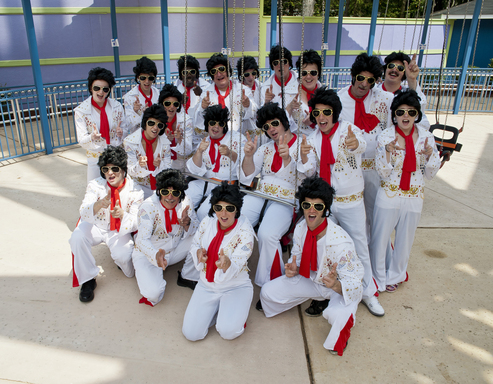 Flying Elvises get ready to soar 24 stories on Six Flags Great Adventure's SkyScreamer
