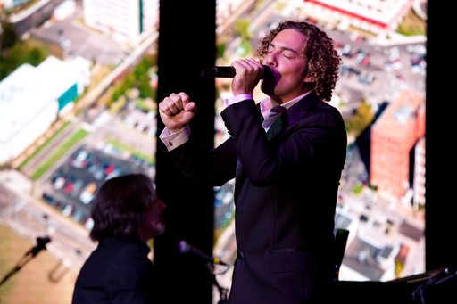 David Bisbal performing at the FedEx/St. Jude Angels & Stars Gala in Miami, FL