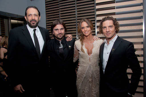 Juan Luis Guerra, Juanes, Karen Martinez and David Bisbal at the FedEx/St. Jude Angels & Stars Gala