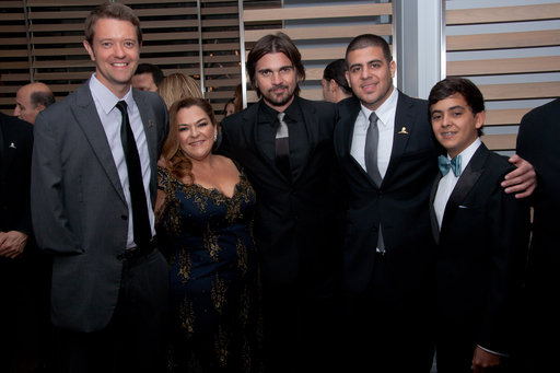 St. Jude Children's Research Hospital Patient Joel, Patricia  Gutierrez, Juanes, Carlos Rodriguez and St. Jude Patient Stephan