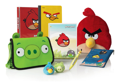 Angry Birds slingshots its way onto the cover of folders, pencil pouches, binders, backpacks and more this summer at OfficeMax.