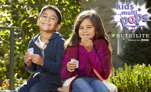 Nutrilite Kids MULTIPOPS features grape-flavored crystals that pop and fizz in your mouth.