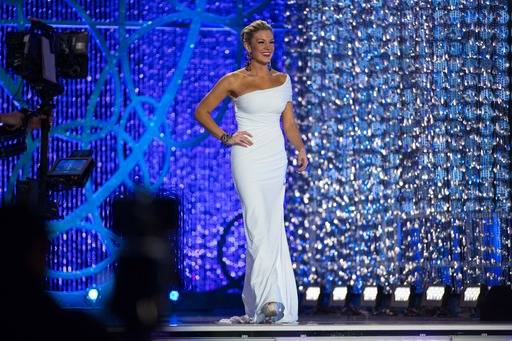 Mallory Hagan in her formal wear during the Miss America Competion 2013