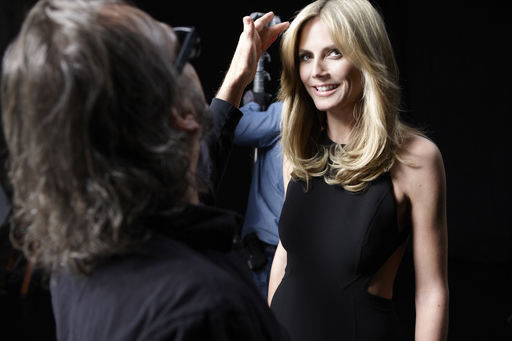 Heidi Klum, face of premium new hair care line CLEAR SCALP & HAIR BEAUTY THERAPY™, gets glam for new ads and shares her secret for strong, beautiful hair- it starts at the scalp