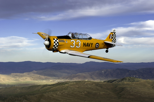 Make the dream of flying come true. Go on a memorable recon mission over the beautiful Mojave Desert in Sky Combat Ace's T-6 warbird airplane, pictured here, or Waco classic airplane.