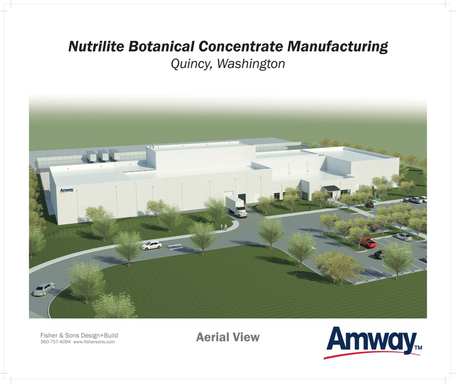 Amway broke ground on its $38 million Nutrilite Botanical Concentrate Manufacturing facility Aug. 29, 2012.