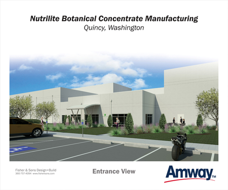 Plant concentrates processed the Nutrilite Botanical Concentrate Manufacturing facility in Quincy, Washington,  US, will be supplied to Amway global manufacturing operations.