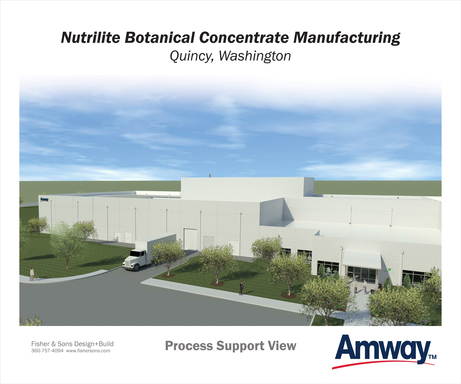 Amway broke ground on its $38 million Nutrilite Botanical Concentrate Manufacturing facility Aug 29th. Built on 12 acres Amway purchased in the Port of Quincy, Washington, US, the 48,000-square-foot facility will create 30 jobs.