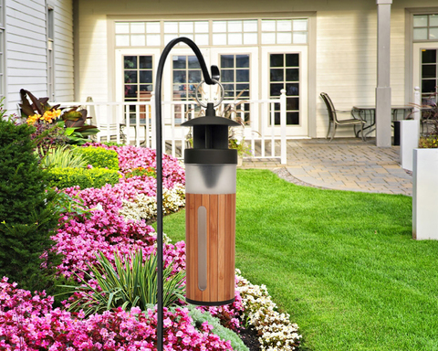 The Black FlagTM Flying Insect Trap naturally blends into any backyard setting and is designed to attract pests, not unwanted attention.