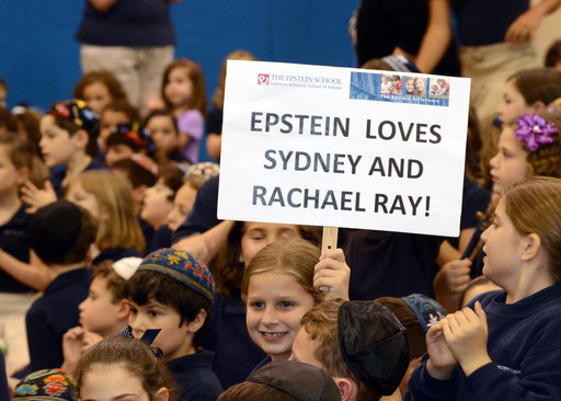 Students from The Epstein School gather to watch The Rachael Ray Show where their classmate, Sydney Fialkow, was declared the Ben's Beginners™ Cooking Contest Grand Prize Winner.