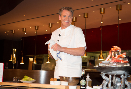 Gordon Ramsay hosts a press conference for Gordon Ramsay Steak, his new restaurant at Paris Las Vegas.