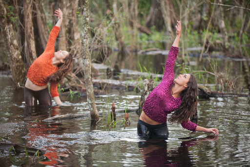 Parsons Dance on-site in Big Cypress National Preserve for Wolf Trap's Face of America: Spirit of South Florida. Photo Credit: Andrew Propp