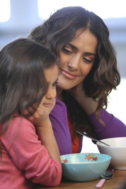 Salma Hayek shares the lengths she would  to go to have milk for her daughter's breakfast.  PHOTO CREDIT: MilkPEP