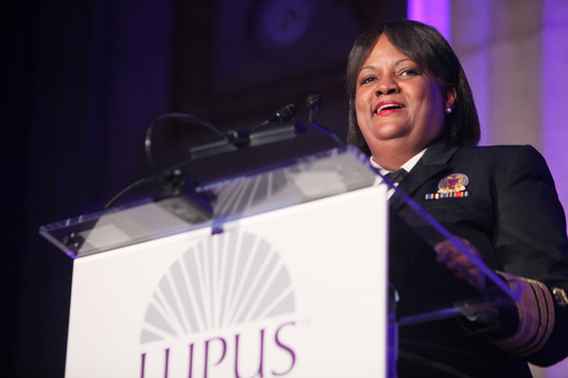 America's Doctor, Regina M. Benjamin, MD, MBA, U.S. Surgeon General, received the National Leadership in Lupus Education Award during the Lupus Foundation of America's National Butterfly Gala.