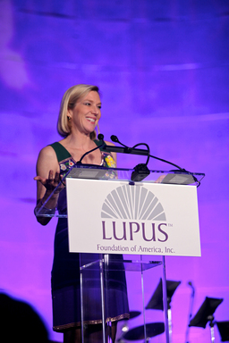 Author and journalist, Lee Woodruff, served as Master of Ceremonies for the ninth annual Lupus Foundation of America's National Butterfly Gala in Washington DC on May 8.